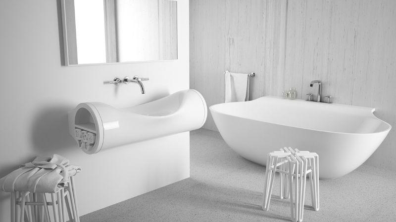Bent Tube Bathroom Fixtures