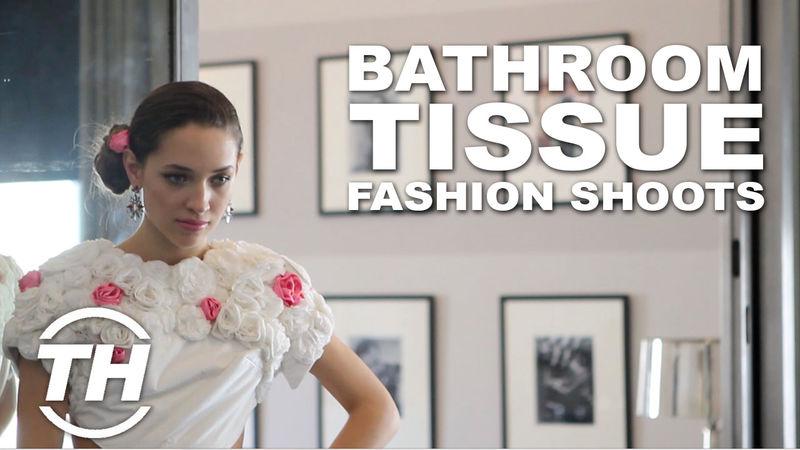 Bathroom tissue fashion shoots bathroom tissue dress for Bathroom dress