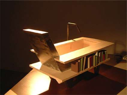 Bathtubs with Bookshelves