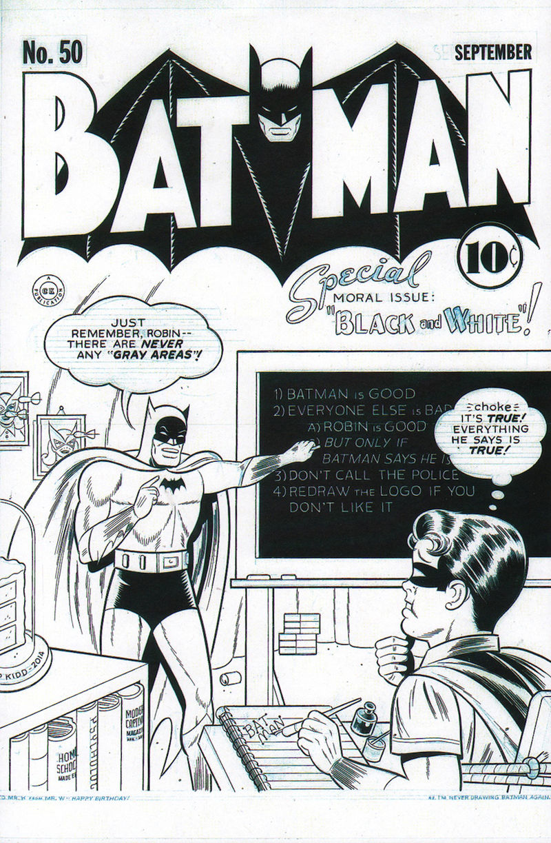 Monochrome Comic Covers Batman Covers