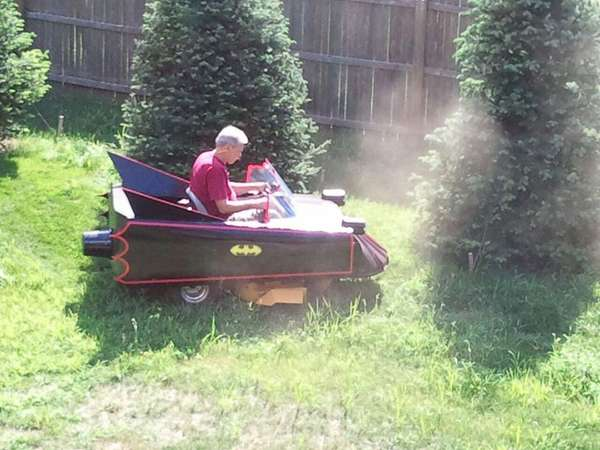 batmobile lawn mower