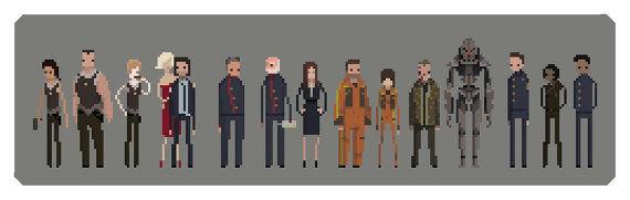 Sci-Fi Pixel Prints