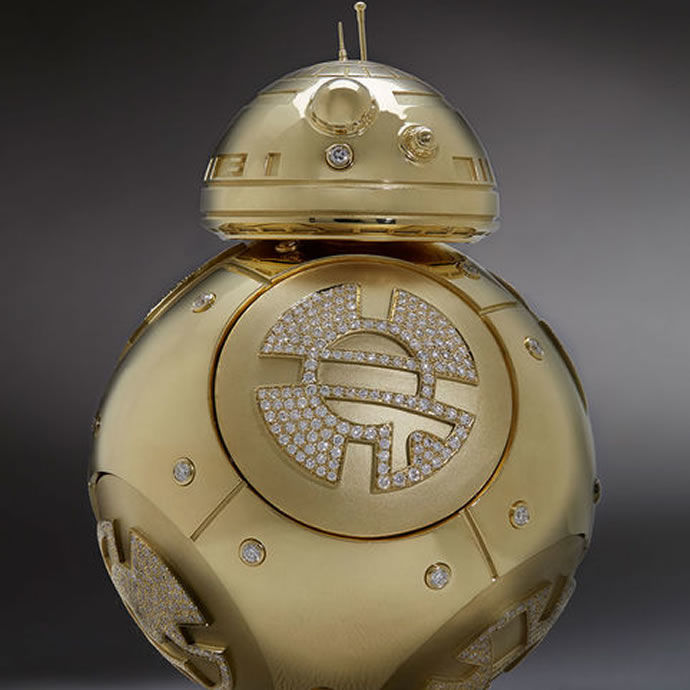 Gilded Sci Fi Droids Bb 8 Droid