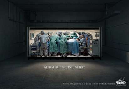 Cramped Operating Room Ads