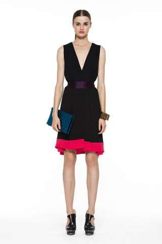 Geometric Color Block Fashion