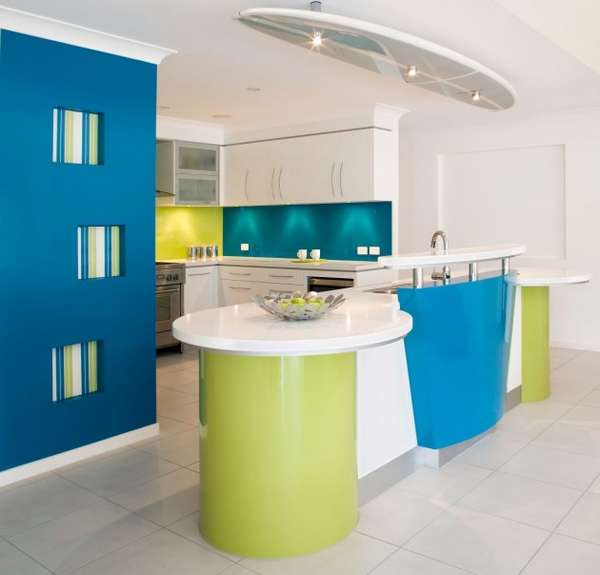 Funky Multicolor Kitchens