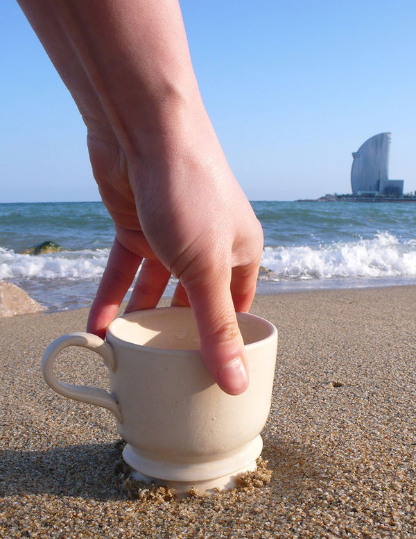 beach screw cup