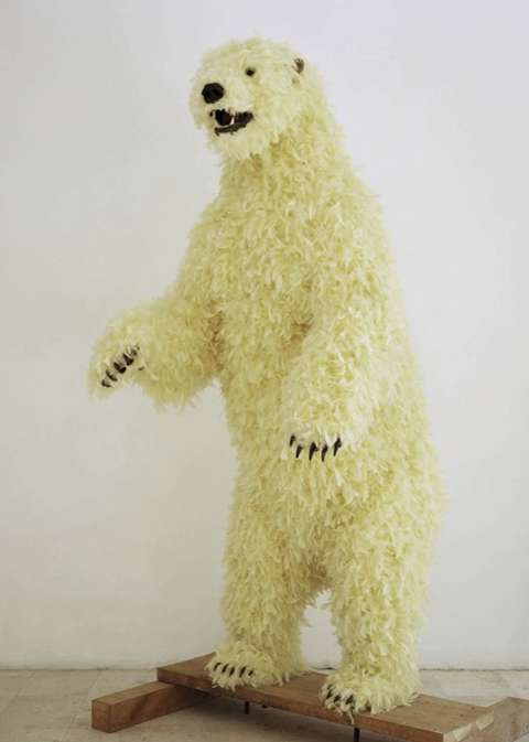Feathery Polar Bear Sculptures