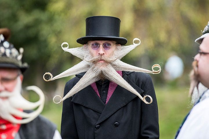 Quirky Moustache Pageants