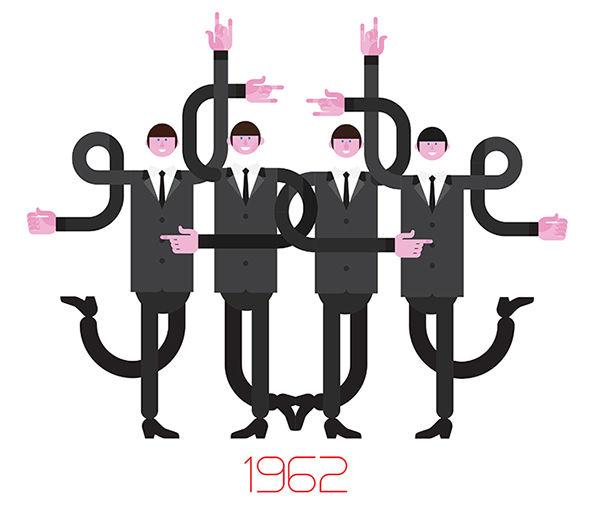 Band Evolution Illustrations