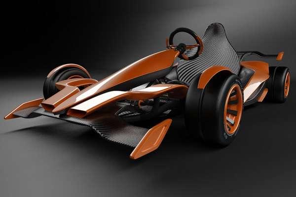 Futuristic Sci-Fi Go-Karts