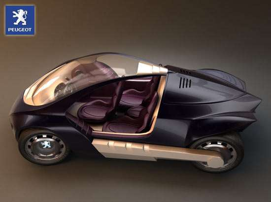 3 Seater Hybrid Concept Cars The Peugeot Stylight By