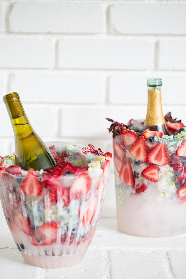 DIY Floral Ice Buckets