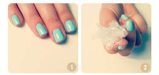 beauty department turquoise manicure
