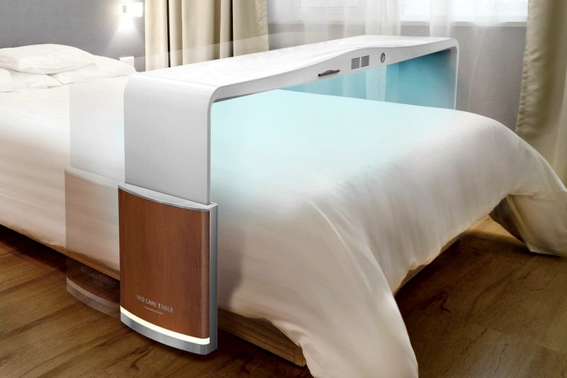 Sheet-Sterilizing Bed Tables