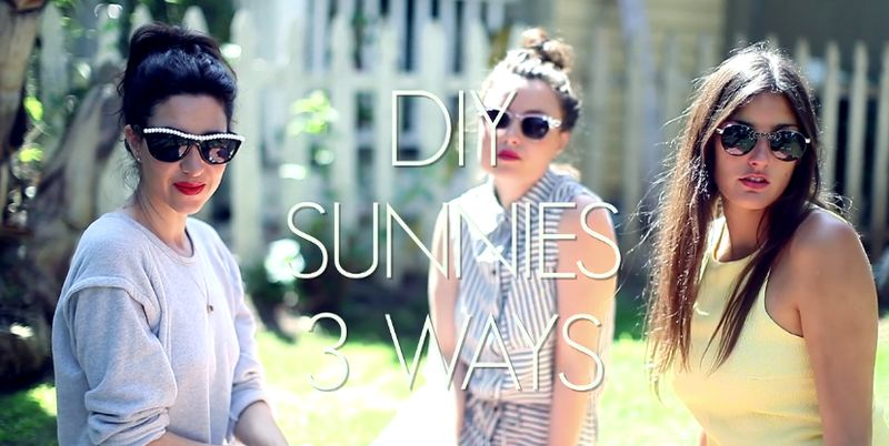 DIY Jeweled Sunnies