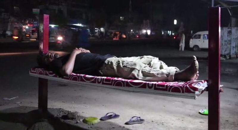 Homeless Billboard Beds
