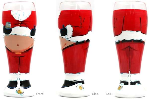 Belly Baring Christmas Cups Beer Belly Glasses