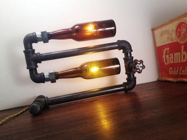 Bold Beer Bottle Lamps