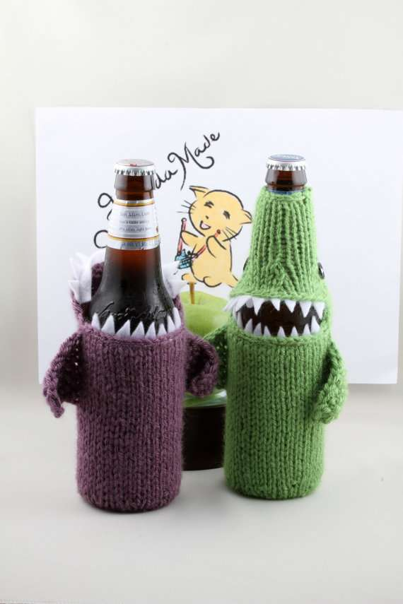 Beer Bottlenose Shark Cozy by HandaMade