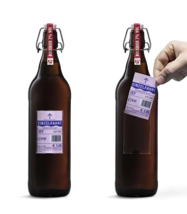 Ticket-Toting Beer Labels
