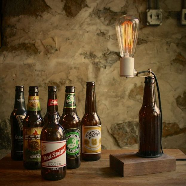 Illuminated Beer Bottle Decor