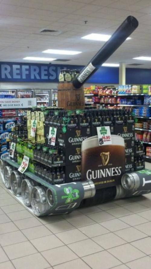 Artillery Style Beer Displays