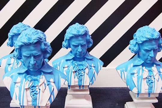 Paint-Dipped Busts