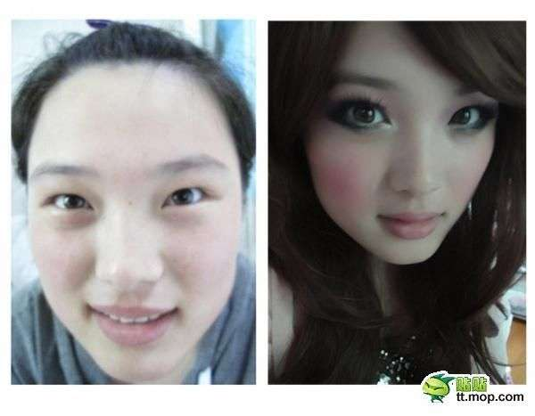 before-and-after makeup