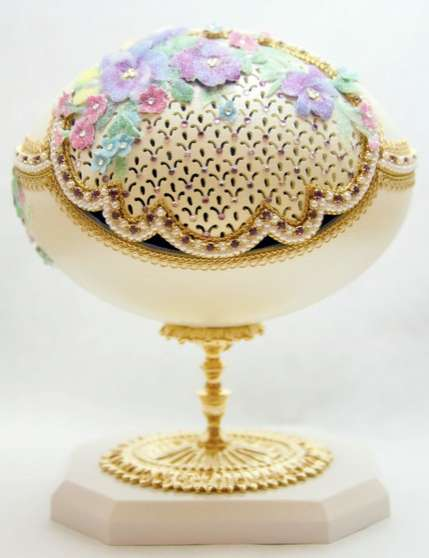 Bejewelled Egg Art