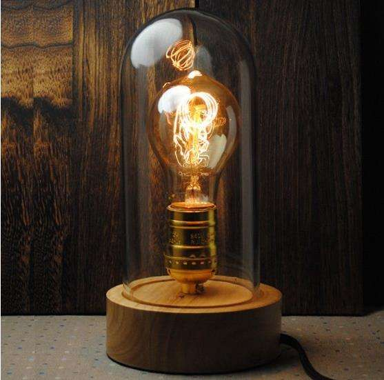 Rustic Bell Jarred Lamps Bell Jar Lamp