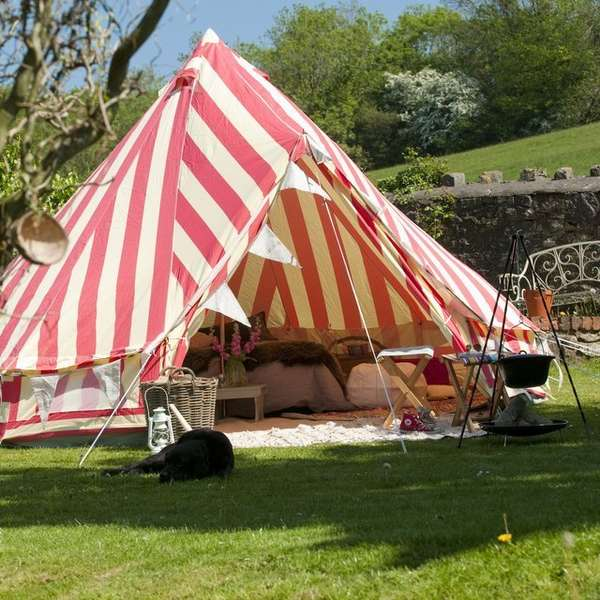 Glamorous Striped Tents