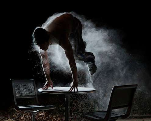 Powdered Acrobatic Photography