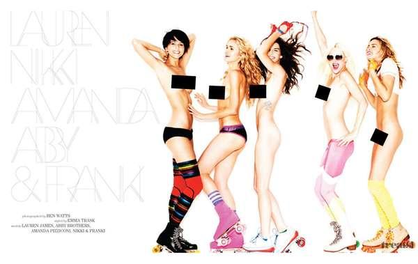 Skin-Baring Roller Girls