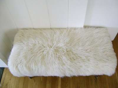 Furry DIY Foot Stools