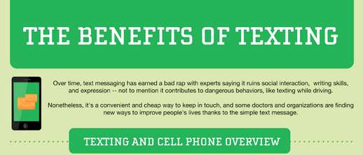 benefit of texting infographic