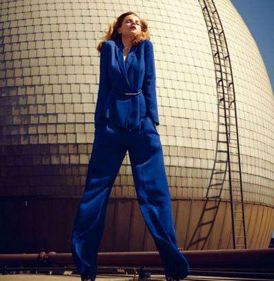 Electric Blue Pantsuits