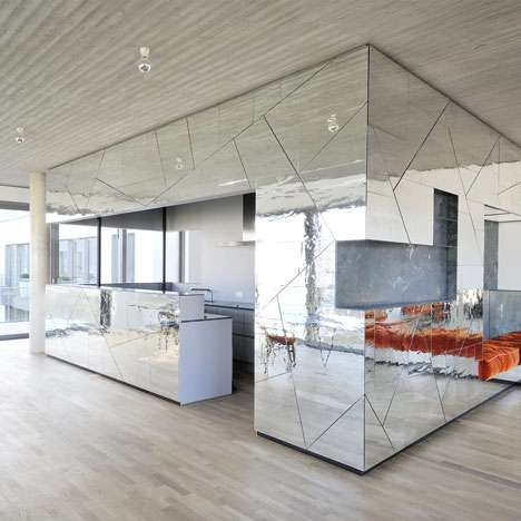 Sharp Mirrored Interiors