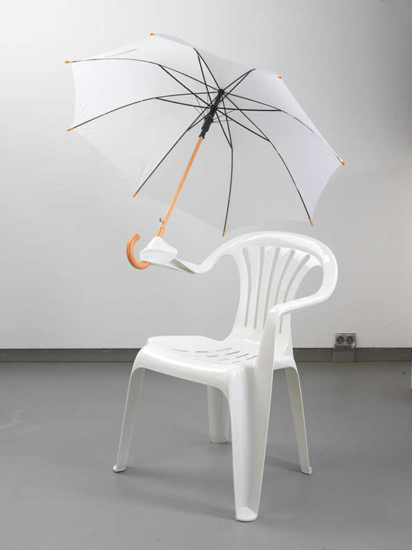 Charming Plastic Chair Sculptures