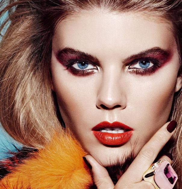 80s-Themed Beauty Closeups