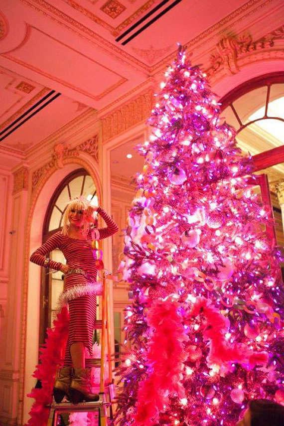 Strange Fashionable Fuchsia Arbores Betsy Johnsons Christmas Tree Easy Diy Christmas Decorations Tissureus