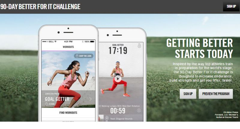 Branded Workout Challenges
