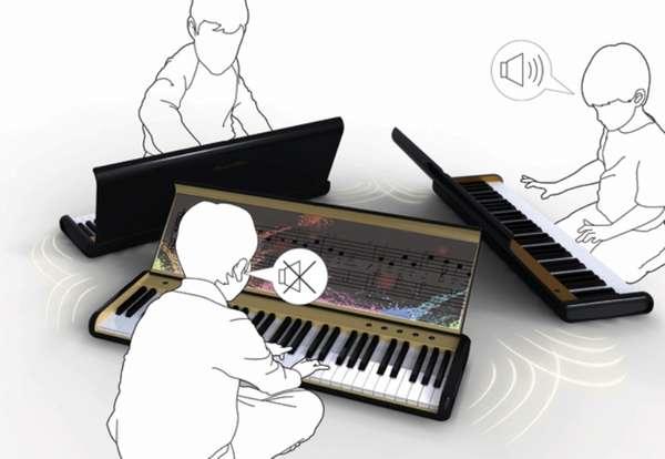Soundless Pianos