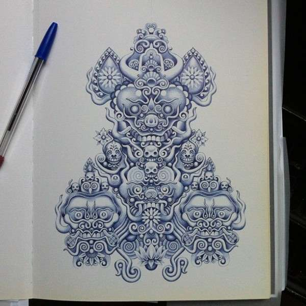 Unfathomably Detailed Pen Drawings