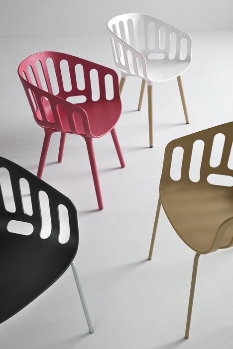Bicycle Basket-Inspired Chairs