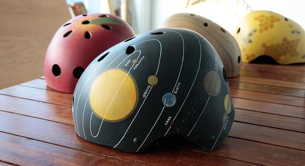 Hand-Painted Bike Helmets