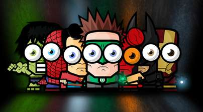 Big Eyed Tiny Superheroes