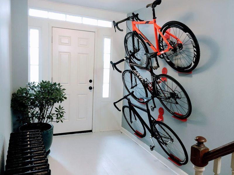 Discreet Bike Storage Hooks