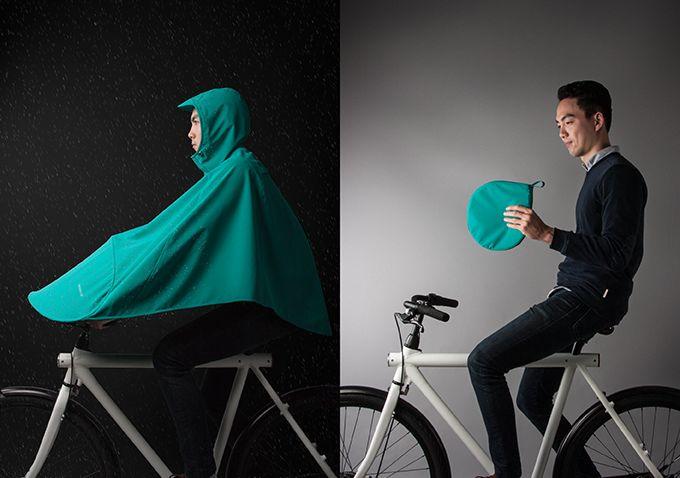 Compact Cycling Raincoats