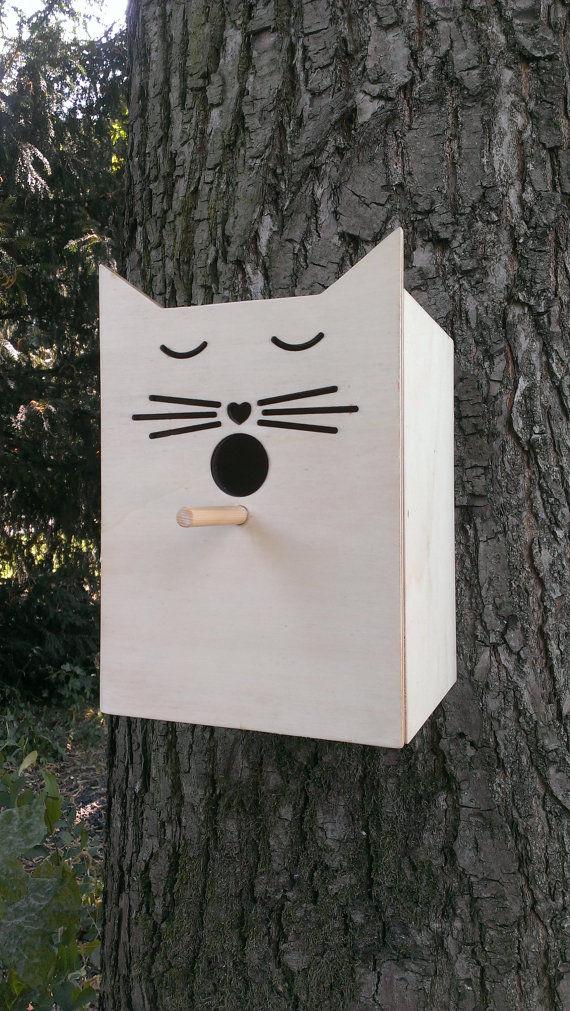 Humourous Feline Bird Houses